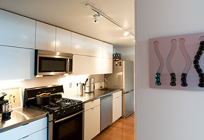 Kitchen Cabinets at Porter 156 Lofts, East Boston, Unit 336