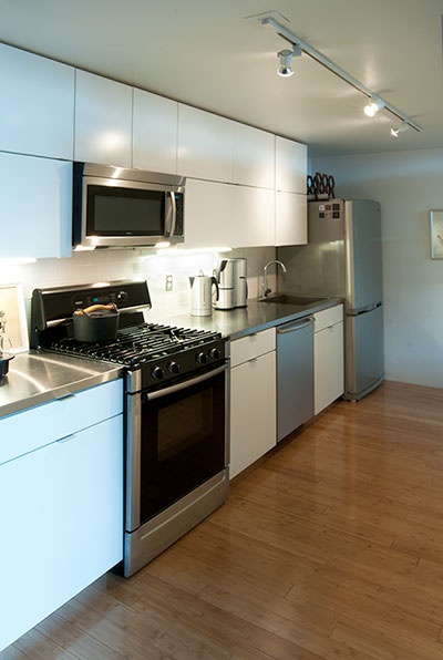 Kitchen at Porter 156 Lofts East Boston Unit 336